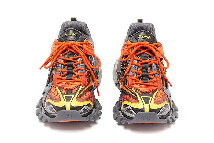 Balenciaga Track 2 Orange Yellow Toe