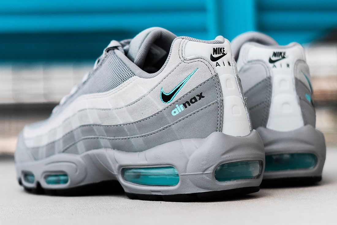 Jd Sports Exclusive Nike Air Max 95 Grey Rear Angle