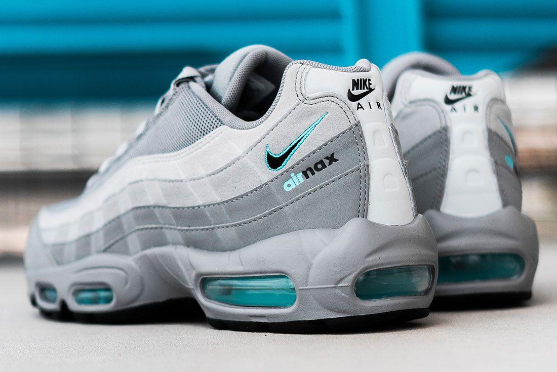 Jd Sports Exclusive Nike Air Max 95 Grey Rear Angle