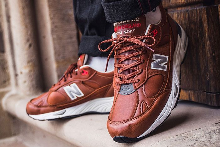New Balance 991 Elite Gent M991Gnb Brown On Foot