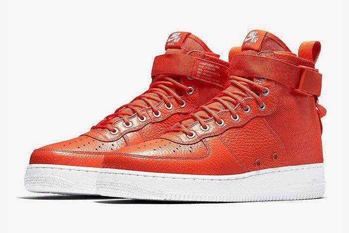 Nike Sf Air Force 1 Mid Team Orange 7