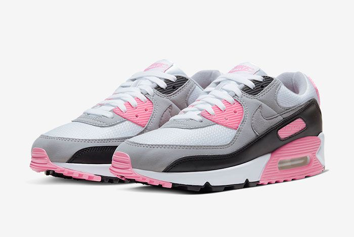 Nike Air Max 90 Rose Pink Cd0881 101 Three Quarter Lateral Side Shot
