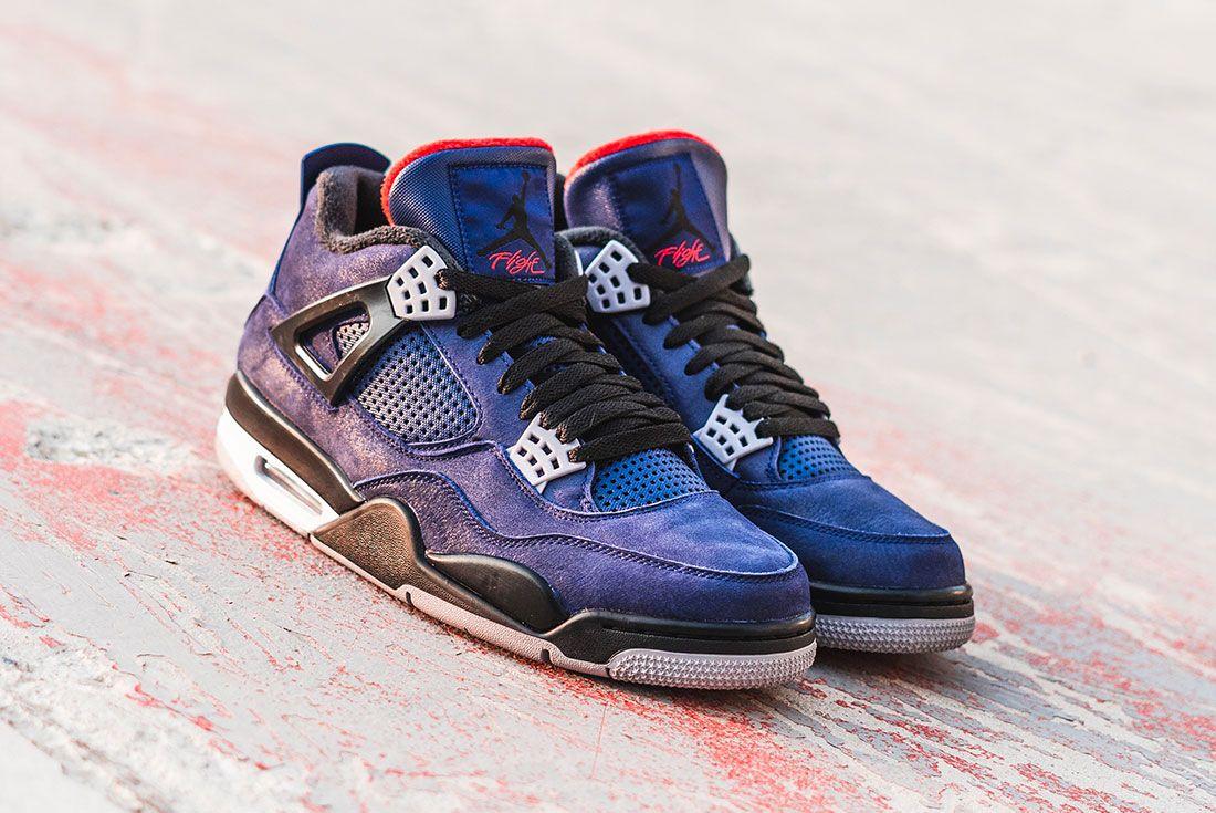 Air Jordan 4 Wntr Blue Front Angle