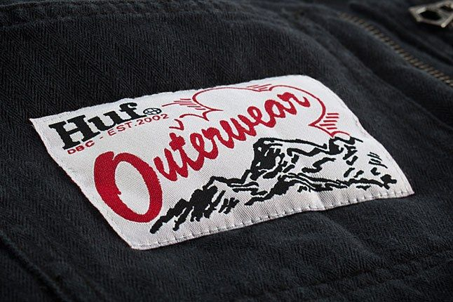 Huf Outerwear Woven Label 1