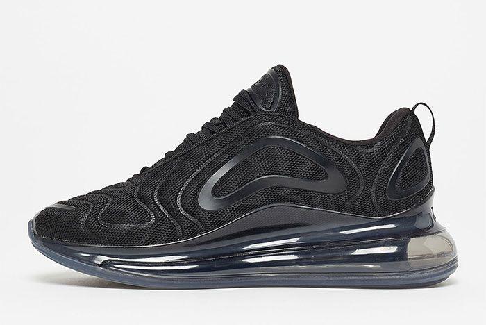 Nike Air Max 720 Triple Black Left