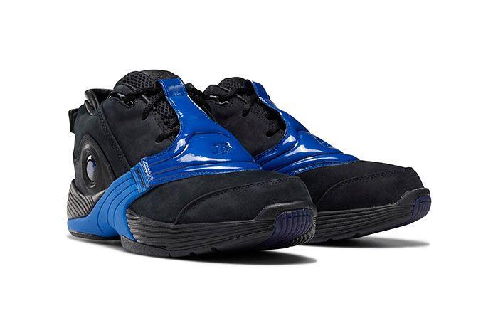 Reebok Answer 5 Black Blue Toe