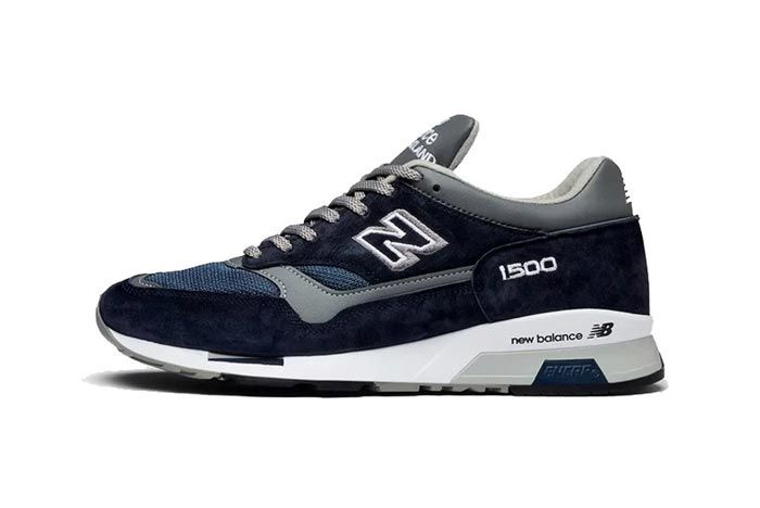 New Balance 1500 Made In England Grey Navy Lateral