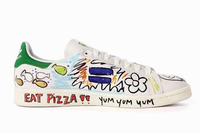 Pharrell Williams Hand Painted Adidas Originals Stan Smith 4