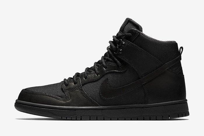 Nike Sb Dunk High Winter Triple Black 5