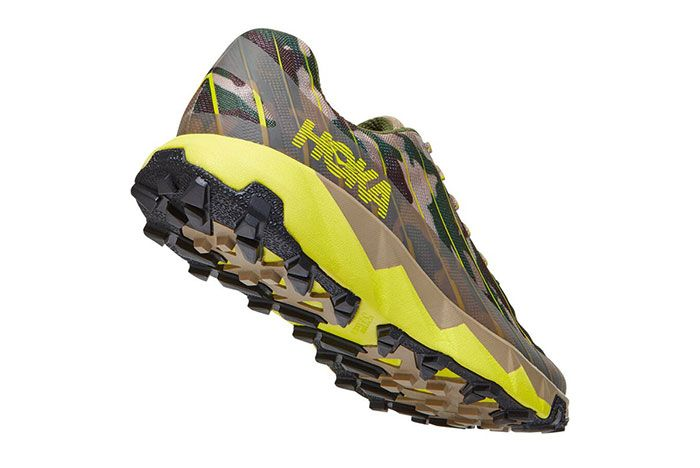 Hoka Xterra Torrent Green Camo Rear Angle