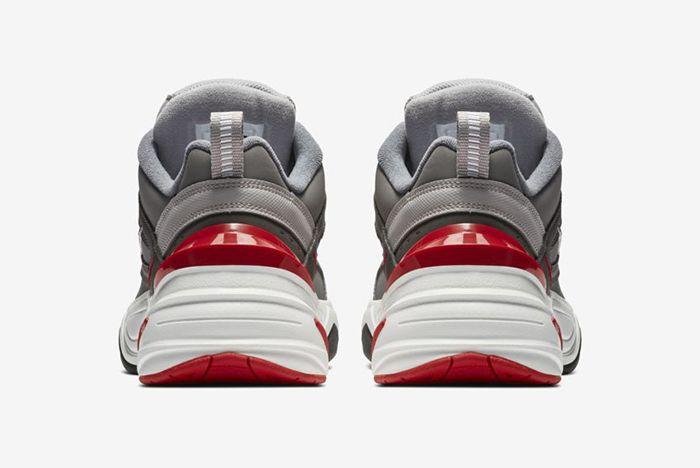 Nike M2K Tekno Gunsmoke Natural Heather University Red 4