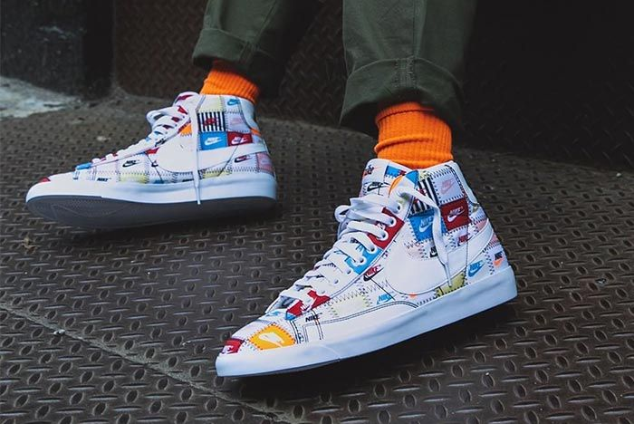 Nike Blazer High Patchwork Left Side Shot