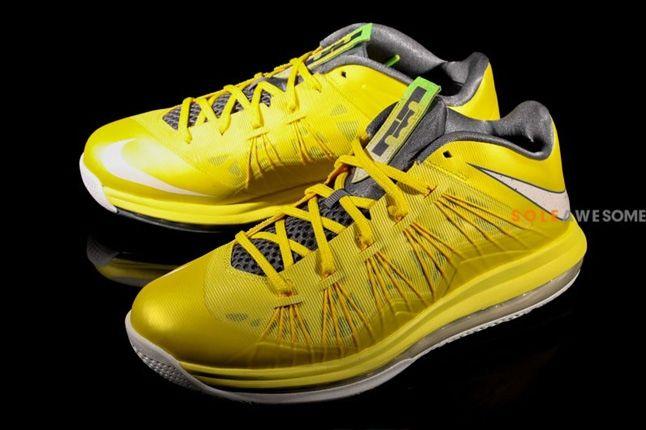 Nike Lebron X Low Sonic Yellow Hero 1