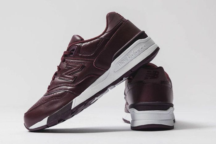 New Balance 597 Burgundy Leather 1