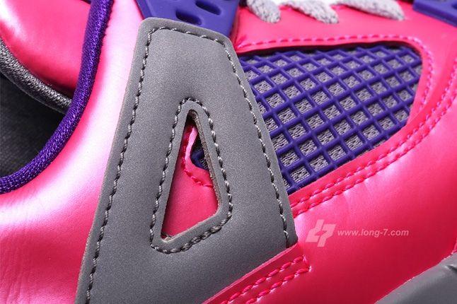 Air Jordan 4 Pink Foil Midfoot Detail