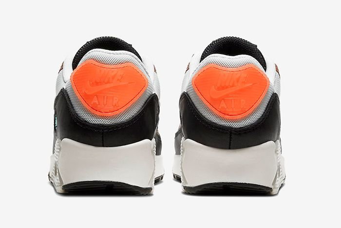Nike Air Max 90 Gold Snakeskin Heel