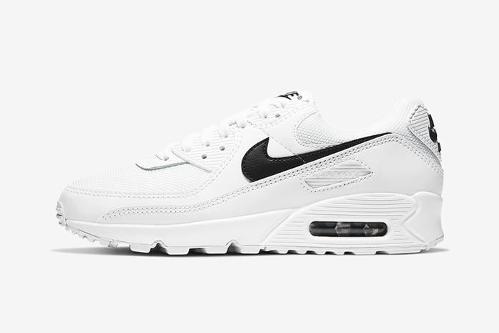 Nike Air Max 90 White Black Womens Lateral