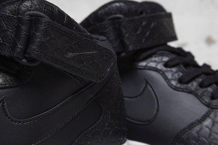 Nike Air Force 1 Mid Black Python 3