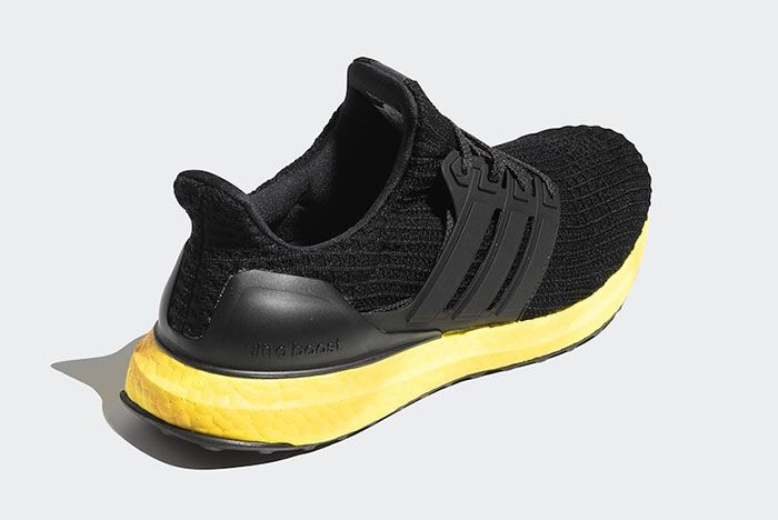 Adidas Ultra Boost Black Yellow Fv7280 Rear Angle