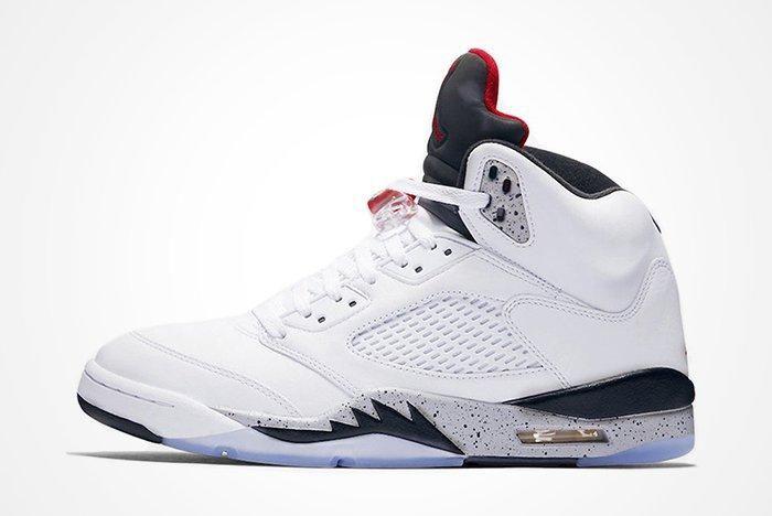 Air Jordan 5 White Cementfeature