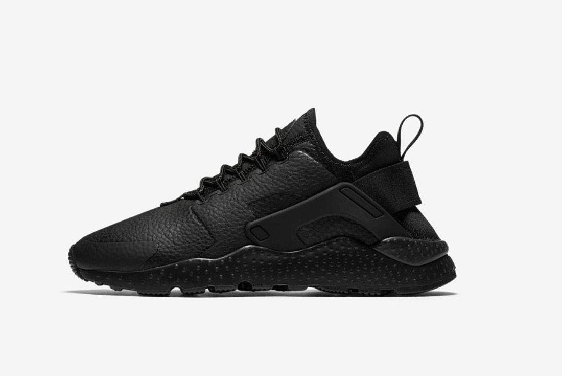 Nike Huarache Premium Womens Beautiful Powerful Black 3