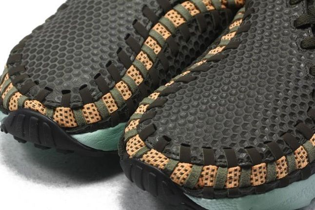Nike Air Footscape Woven Brown Mint Toe Detail 1