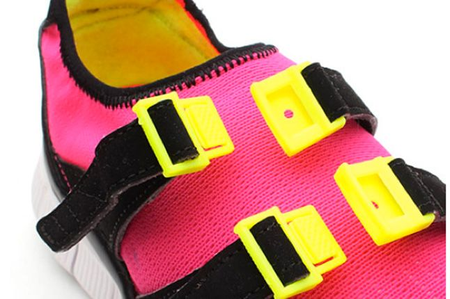 Nike Free Sock Racer Candy Pack Flash Pink Straps 1