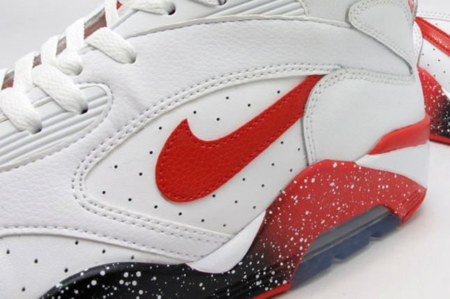 Nike Air Force 180 White Hyper Red Photo Blue Side Details 1