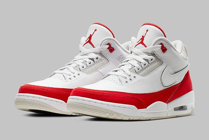 Air Jordan 3 Tinker University Red Three Quarter Shot