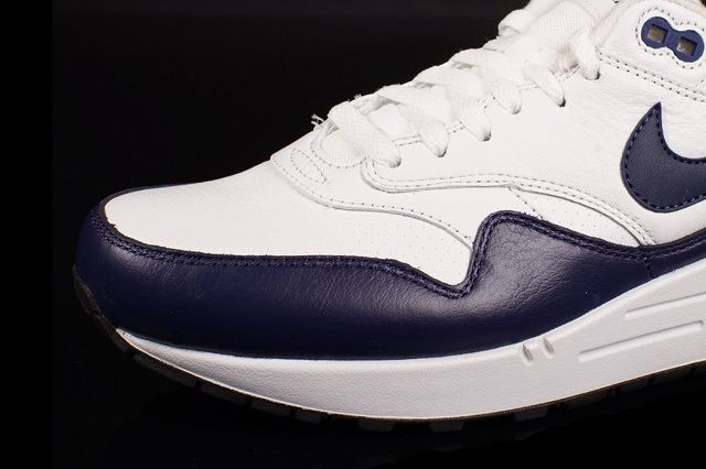 Nike Air Max 1 Leather White Navy 1
