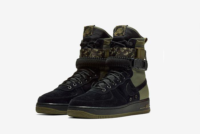Nike Sf Af1 High Black Olive 864024 004 Sneaker Freaker