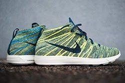 Nike Lunar Flynit Chukka Squadron Blue Electric Yellow Thumb