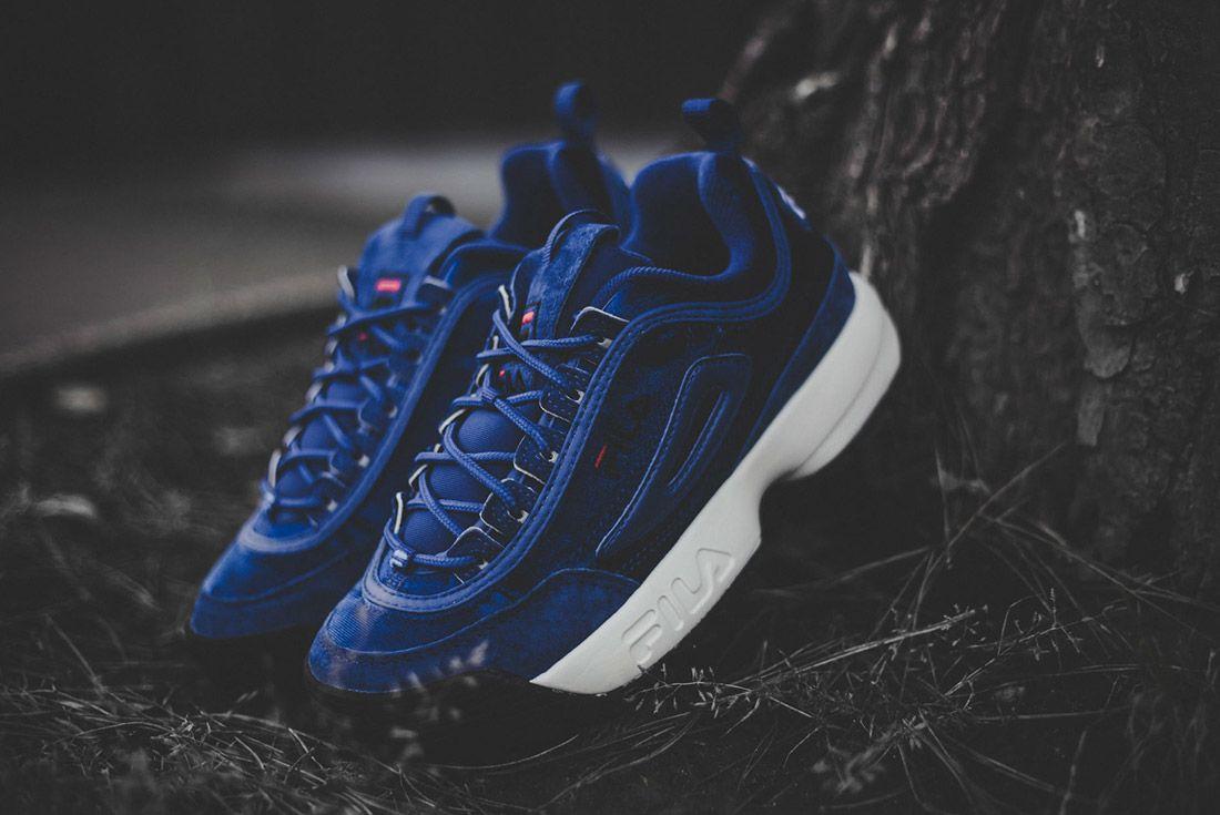 Fila Disruptor V Low Womens Royal Blue Sneaker Freaker 3