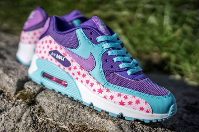 Nike Air Max 90 Gs Playful Stars For Kids 01