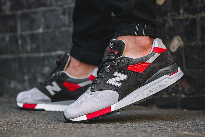 New Balance 998 Made In Usa Grey Red 6