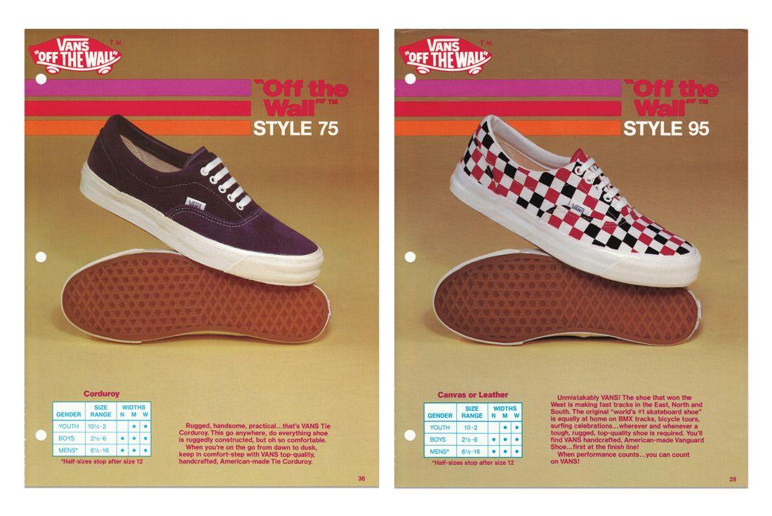 Vans Original Era Style75 Style95 Ad