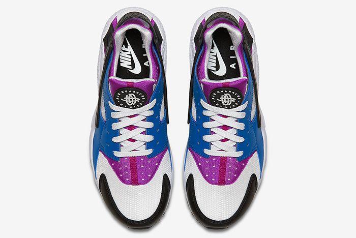 Nike Air Huarache Blue Jay White Hyper Violet Black 3