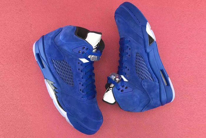 Air Jordan 5 Blue Suede15