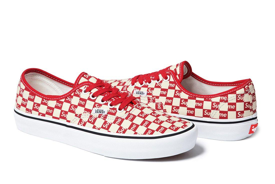 Supreme X Vans Checker Logo Pack 6