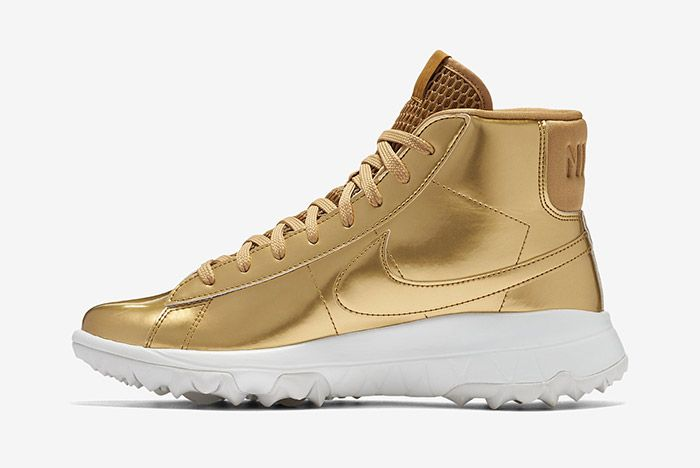 Nike Blazer Golf Metallic Gold Wmns 6