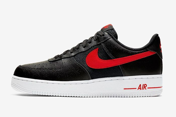 Nike Air Force 1 Low Black University Red Cd1516 001 Release Date