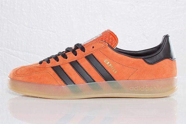 Orange Adidas Gazelle Indoor Side 1