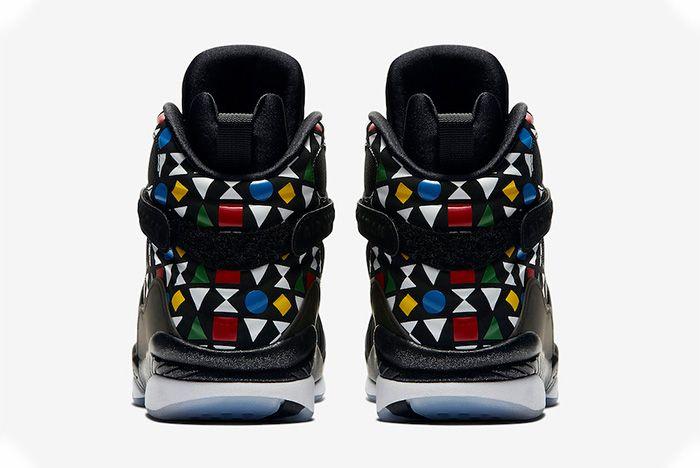 Air Jordan 8 Quai 54 Release Date Heel