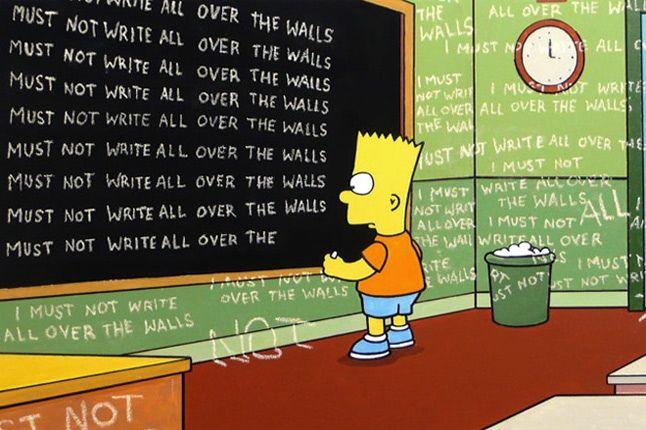 Bart Banksy Simpsons 1