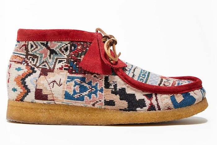 Todd Snyder Clarks Originals Wallabee Red Lateral
