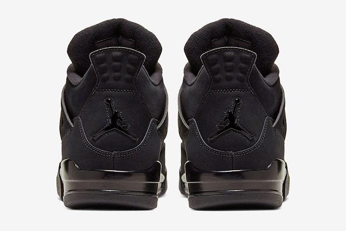 Air Jordan 4 Black Cat Cu1110 010 2020 Heel