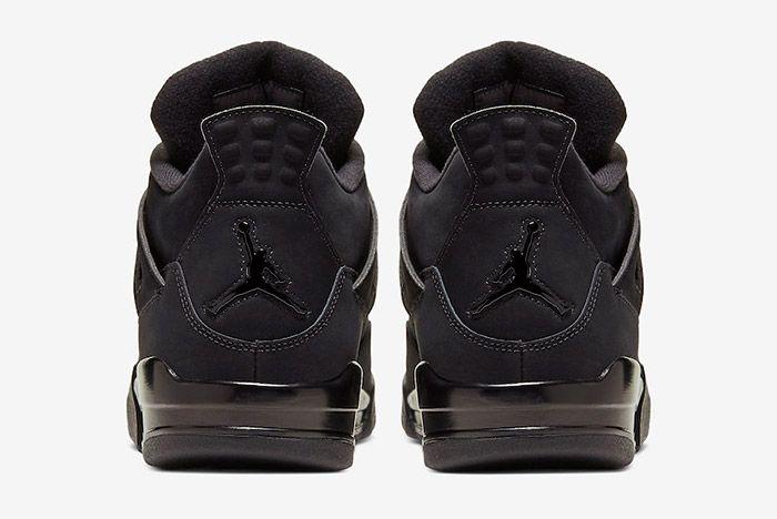 Air Jordan 4 Black Cat Cu1110 010 2020 Heel
