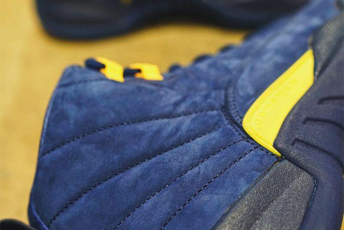 Air Jordan 12 Michigan Bq3180 407 Heel Sneaker Freaker