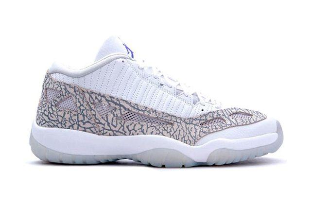Air Jordan 11 Low Ie White Cobalt Zen Grey Cement Grey