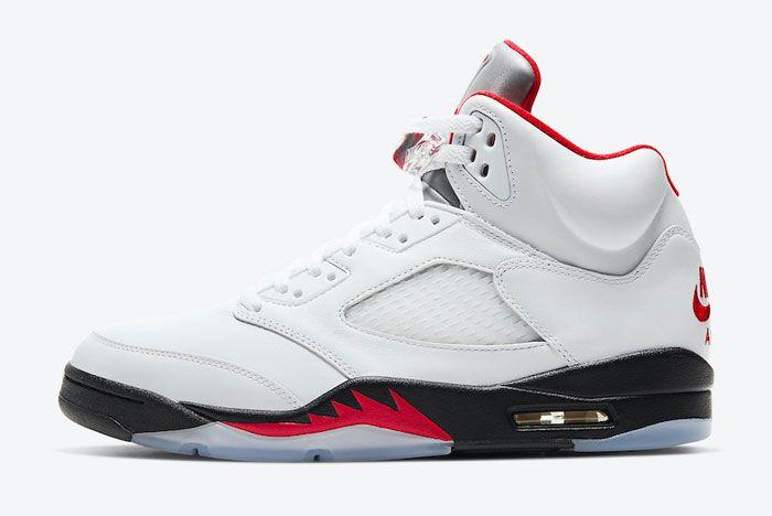 Air Jordan 5 Fire Red Left